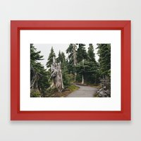 Mile High Hiking Framed Art Print