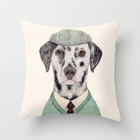 Dalmatian Mint Throw Pillow