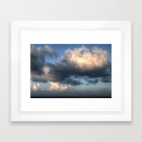 The sea... Framed Art Print
