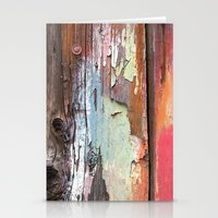 Photograph of painted old shed. Stationery Cards