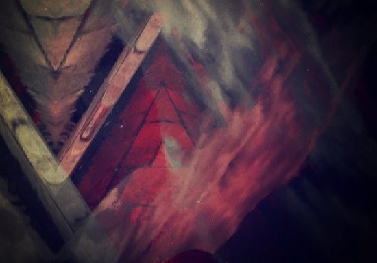 Pyramid Ablaze  Art Print
