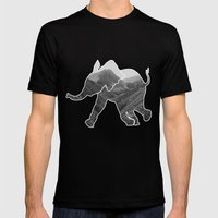 Elephant Mens Fitted Tee Black SMALL