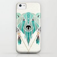 iPhone 5c Cases featuring polar bear by Manoou