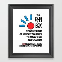THE R & B BOX Framed Art Print