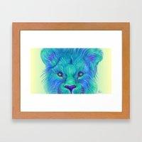 Oscar - Lion Painting Framed Art Print