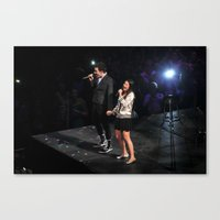 Glee Concert: Lea Michele and Chris Colfer Canvas Print