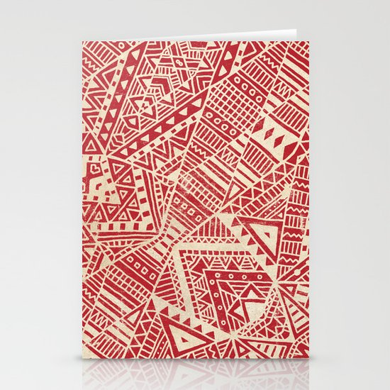 Tribal (red)  Stationery Card