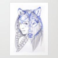 She Wolf Art Print