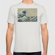 Great Wave Off Kanagawa … Mens Fitted Tee Silver SMALL