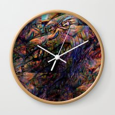 """""""And gaze for hours on the muscle, skin and bone."""" Wall Clock"""