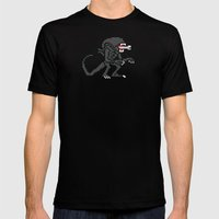 Alien Pixels Mens Fitted Tee Black SMALL