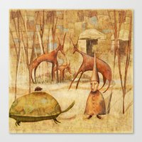 The Tortoise and the Beetle Canvas Print