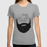 I Wanna Get Lost Here  Womens Fitted Tee Athletic Grey SMALL