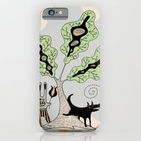 Black Dog and his Rabbit Friend iPhone 6 Slim Case