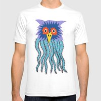 The Owl Of Cthulu Mens Fitted Tee White SMALL