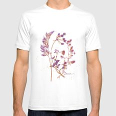 Botanical 1 Mens Fitted Tee White SMALL