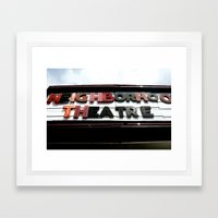 Theatre Framed Art Print