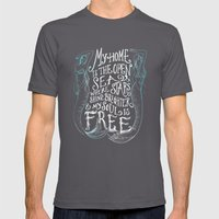 My Home is the Open Sea Mens Fitted Tee Asphalt SMALL