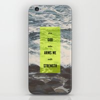 ARMS ME WITH STRENGTH iPhone & iPod Skin
