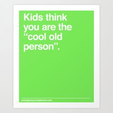 Cool Old Person Art Print