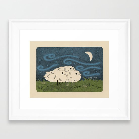 Three Sheeps to the Wind Framed Art Print