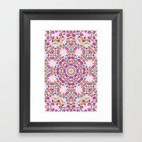 Love And Kisses Mandala Framed Art Print