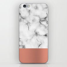 Marble & copper iPhone & iPod Skin