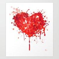 Bloody Valentine Art Print