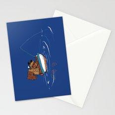 Bear Fishing Stationery Cards