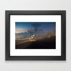 Antenna Flowing Framed Art Print