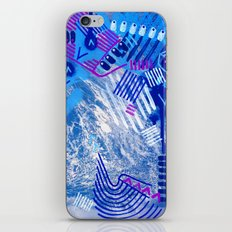 Wave Blue II iPhone & iPod Skin