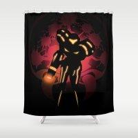 Metroid Shower Curtain