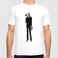 Abe Lincoln Mens Fitted Tee White SMALL