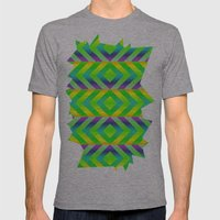 Green Mens Fitted Tee Athletic Grey SMALL