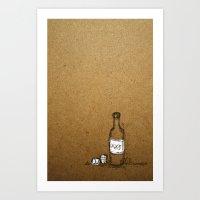Booze Art Print