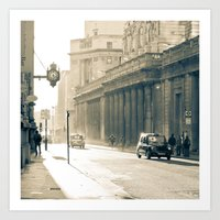 Old street that vanishes Art Print