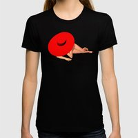 Der Rote Hut Womens Fitted Tee Black SMALL