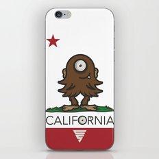 LIL' BIGFOOT CALI FLAG iPhone & iPod Skin