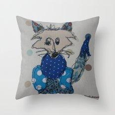 Mr Foxy Throw Pillow