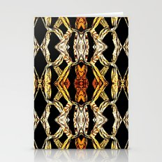 Elegant Oriental Pattern Black Gold Stationery Cards