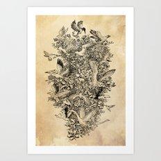 Blooming Flight Art Print