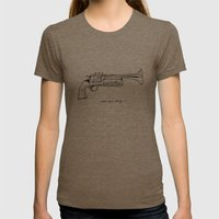 Make Music, Not War. Womens Fitted Tee Tri-Coffee SMALL