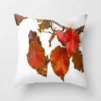 Autumn On A Branch Throw Pillow