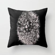 Black and White Dreams Throw Pillow