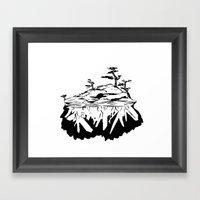 Crystal Islands 1 Framed Art Print