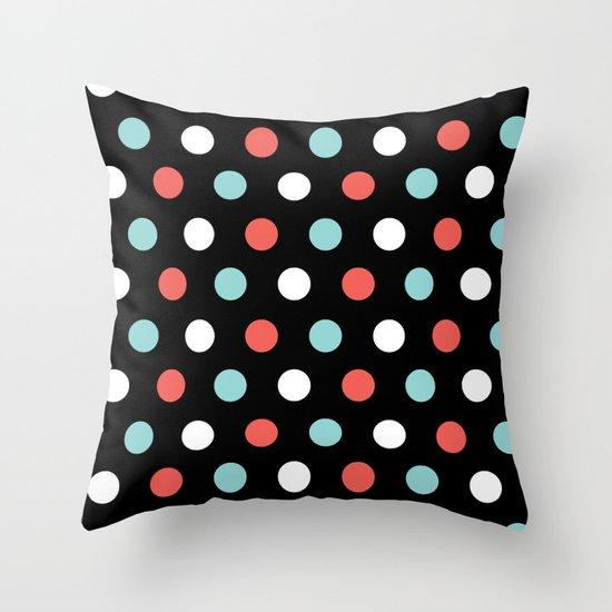 Happy Dots Throw Pillow