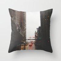 Griswold St - Detroit, M… Throw Pillow