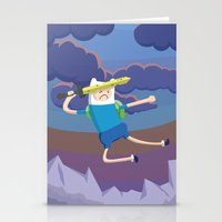 Finn the Human is gonna KICK YOUR BUTT! Stationery Cards