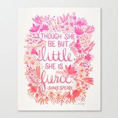 Little & Fierce – Pink Ombré Canvas Print