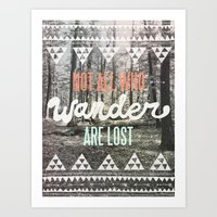 forest Art Prints featuring Wander by Wesley Bird